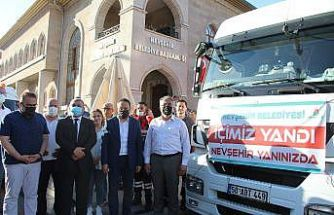 Nevşehir'den Manavgat'a bir tır yardım gönderildi