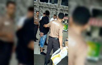 (ÖZEL) Bekçilerin dikkati hırsızı kıskıvrak yakalattı