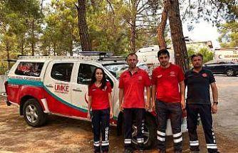 Nevşehir'den 4 UMKE gönüllüsü ve 1 UMKE aracı Manavgat'ta