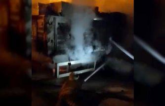 Kırıkkale'de inşaat malzemesi yüklü tırda çıkan yangın büyümeden söndürüldü