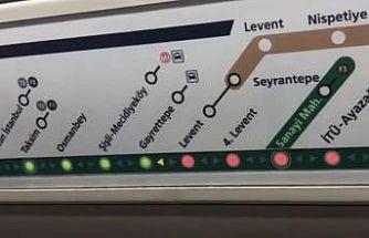 Metroda 'gelecek istasyon' paneli yolcuları yanıltıyor