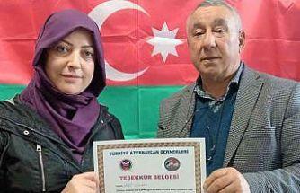 Ünsal'dan  Gölçek'e teşekkür belgesi
