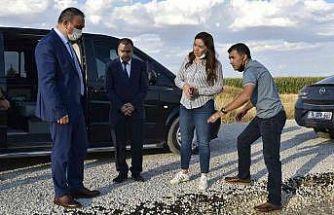 Vali Soytürk köy yollarını inceledi