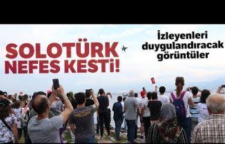 İzmit Semalarındaki Solo Türk Gösterisi İzleyenleri Gururdan Ağlattı