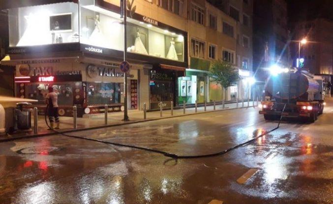 Gebze'de 24 saat boyunca temizlik çalışması yapılıyor