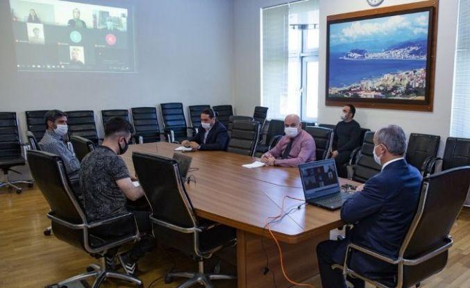 Rektör Yılmaz Can telekonferans yöntemiyle öğrencilerle buluştu