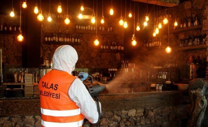 Talas'ta lokanta ve kafeler yeni normale hazır