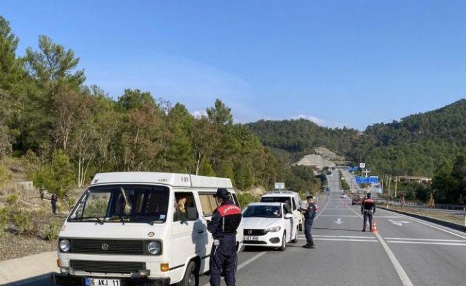 Jandarma'nın Covid-19 denetimleri sürüyor