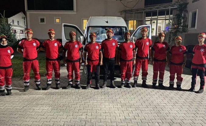 Kahramankazan Belediyesi Arama Kurtarma Birliği Manavgat'ta