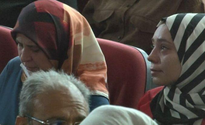 Şehitleri anma programında gözyaşları sel oldu