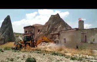 Kapadokya'da 117 Kaçak Yapı Yıkıldı